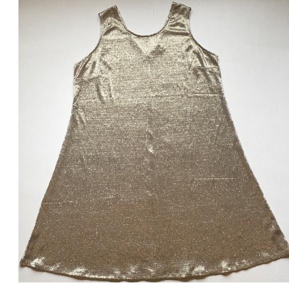Plus Size Dress By Cato Metallic Gold Size 1820 Poshmark